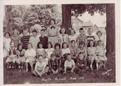 Hayt School, Grades 1-3 in June 1951