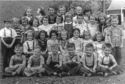 1st Grade, Fall Creek School, 1949