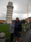 Joanne Westfall Bonanni And Her Husband Sam At The Leaning Tower Of Pisa in Italy, October 2010.