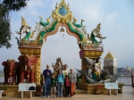 Loulie and George Kent with family at the Golden Triangle in Northern Thailand.