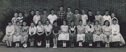 Fall Creek School Mrs. Harley's 6th Grade Class 1955