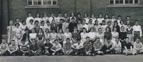 Fall Creek School Combined 6th Grade Classes 1955