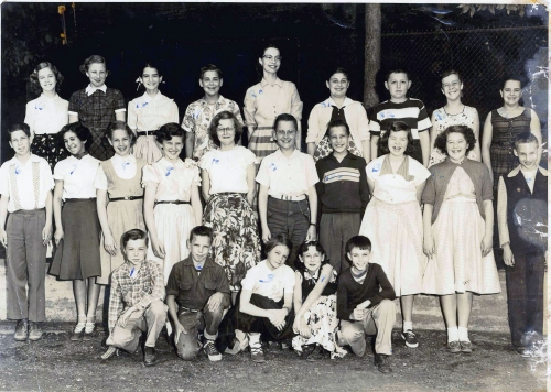 Mrs. Cooper's East Hill 6th Grade Class, June 1955