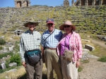 Trip To Turkey, Summer 2012.  George, Tom and Loulie in the ancient stadium at Laodicea