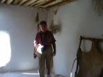 Trip To Turkey, Summer 2012.  Fearless Leader, Tom Watkins, in a dwelling at Neolithic site of Catalhoyuk