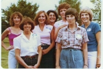15th Reunion - Sharon Townley, Alice Lutton Glover, Ann Marie Mars Goss, Angie Neferis Brashear, Bev McCully Dunphy, Sue