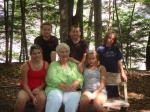 Judy Lampman Lankau and five of her six beautiful grandchildren. Walking to Taughannock Falls...first time grandchildren