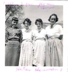 Boynton Jr. High days - Kathy Ryan, Margot & Linda Jensen, and Helen Herrmann.