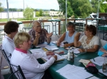 The Reunion Committe continues to make plans in Ithaca in July, 2009. Joann Westfall, Helen Herrmann, George Kent, Margi