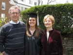 Ross Dicker, his wife Leane ( A Cornellian from Binghamton) with their daughter, Meredith who graduated from the Univers