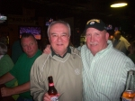 Tommy Fauls and Herb Schutt celebrating their birthday on St Patrick's Day 2010 in Surfside Beach, SC. In left rear is