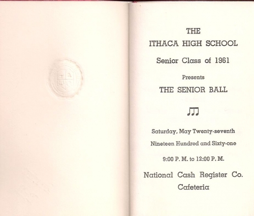 Senior Ball Program Page 1