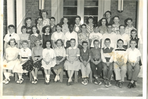 Mrs. Buzzell's 6th Grade Class, West Hill School, June 21, 1955