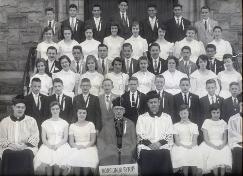 8th Grade Graduation at Immaculate Conception 1957