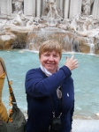 Joanne Westfall Bonanni Tossing A Coin In The Trevi Fountain In Rome.