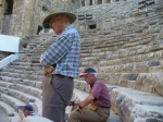 Trip To Turkey, Summer 2012.  George and Tom in theater at Aspendos