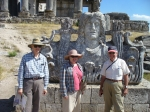 Trip To Turkey, Summer 2012.  George, Loulie, and Tom in front of detail from the Temple of Zeus at Aezani, Turkey